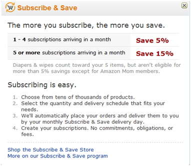 Amazon Subscribe & Save(S&S)1